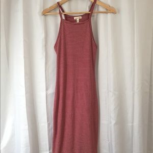 Mid length body con silence and noise dress